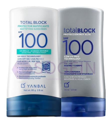 Imagen 1 de 2 de Bloqueador Total Block Spf 100  2x1 Ori - mL a $230