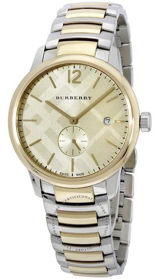 Reloj Burberry Bu10011 Swiss The Classic Round Two Tone