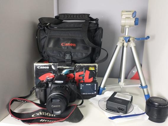 Corpo Camera Canon T4i Com 2 Lentes + Equipamentos