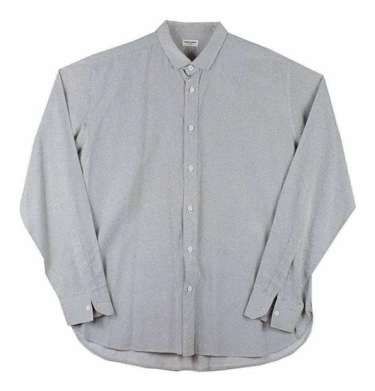 Camisa Saint Laurent Minimalist Para Hombre Talla L