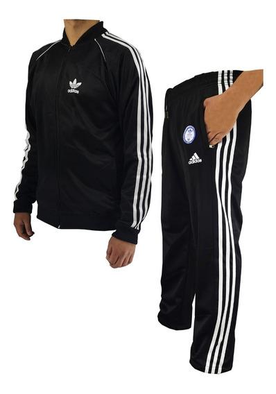 Campera Adids Retro Y Pantalon Recto Deportivo Hombre Sport