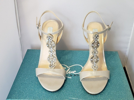 Zapatos Zapatillas Tacones Betsey Johnson Chloe Silver Satin