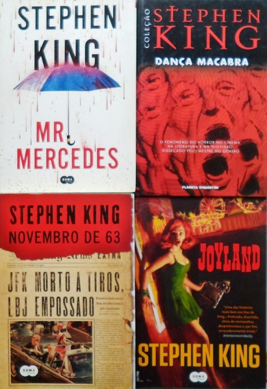 4 Livro Stephen King , Novembro De 63 /mr Mercedes /joyland