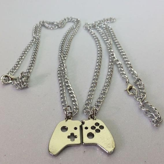 Colar Duplo Controle Video Game X - Box Para Casal