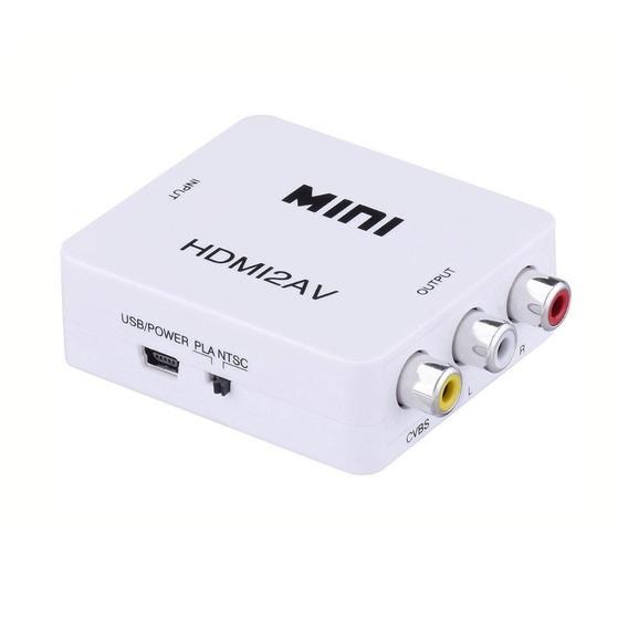 Conversor Hdmi A Rca Hdmi2av Adaptador Tv Tubo Play - Seisa Store