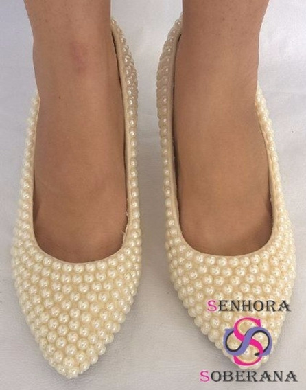 Sapato Scarpin Off White Perolado (casamento)(madrinha)