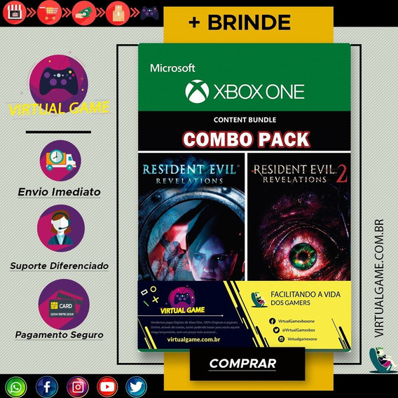 Resident Evil Revelations 1 E 2 - Jogo Xbox One - + Brinde