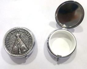 Teca Porta Hóstia Eucaristia Nossa Senhora Aparecida Metal