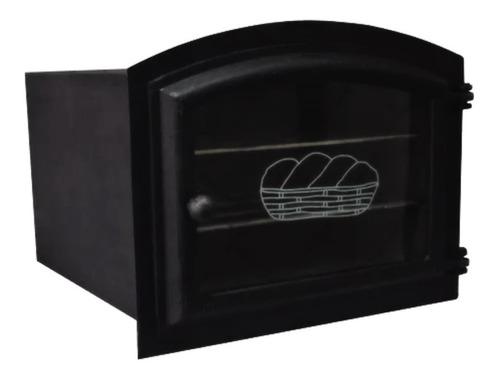 Forno Frente Alumínio Fundido 3mm C/vidro Grande 50x47x33cm
