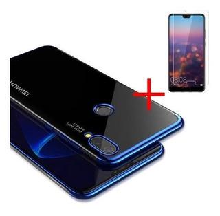 Funda Tpu Clear Silicona Huawei P20 Lite+vidrio Plano+envio