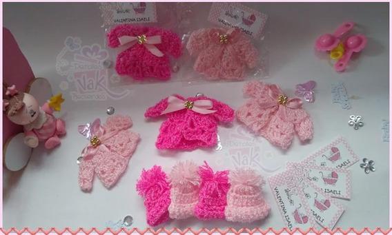60 Distintivos Recuerdos Baby Shower Chambritas Tejidas