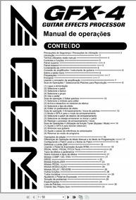 Manual Em Português Zoom Gfx-4