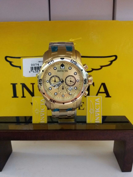 Invicta Original Men 0074 Pro Diver Analog Swiss Quartz 18k