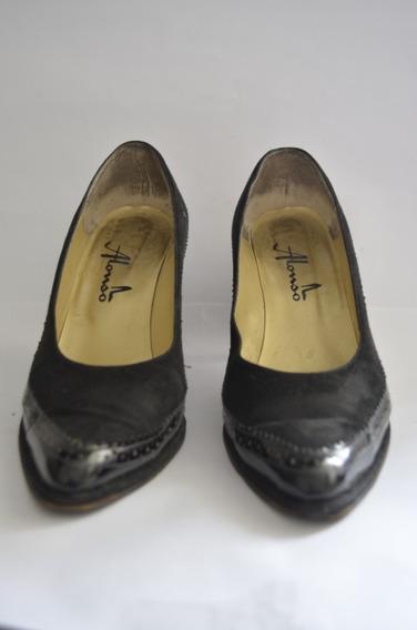 Zapatos Negro De Cuero Y Gamuza - Alonso - Leer Publicación