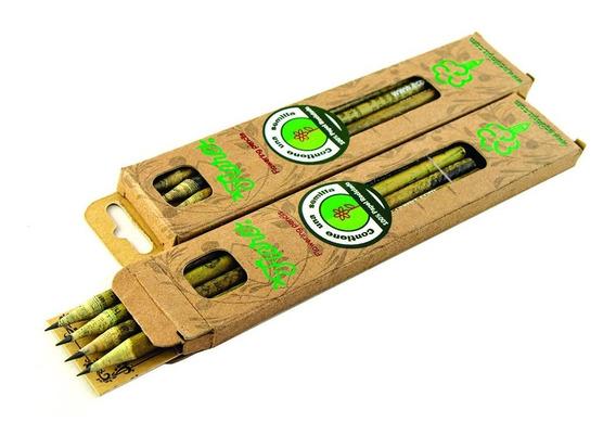 Set 4 Lapiz Ecologico De Papel Reciclado Con Semilla Fiore