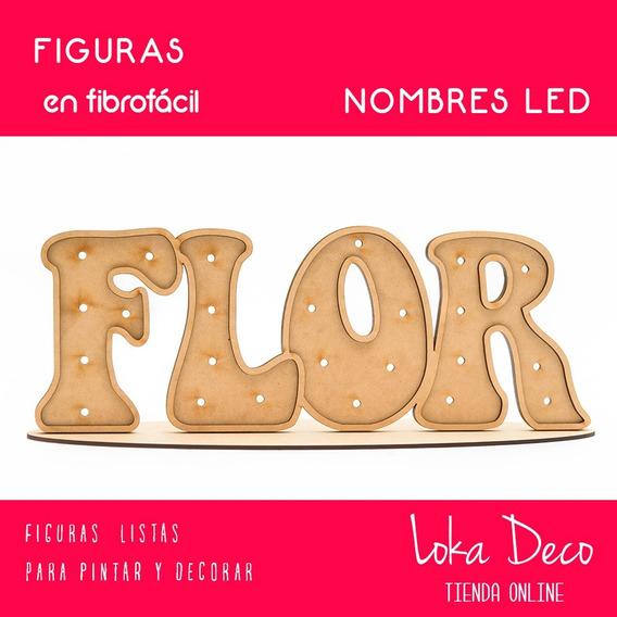 Nombres Para Luces Led - Fibro Fácil - 60cm Ancho - Oferta!