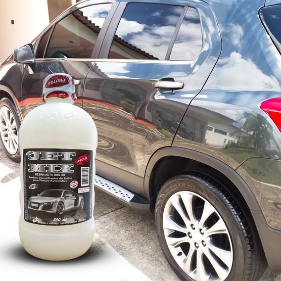 Resina Pintura Verniz Carro Melhora Visual Brilho Intenso 500ml Lava Rápido Fácil Aplicação Liquida Rende Muito Pro