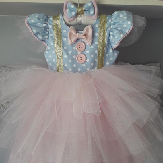Vestido Festa Circo Palhacinha Princesa Bebê 1 Ano!