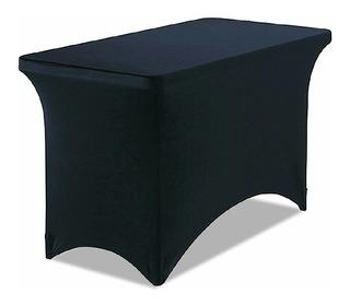 Mantel Tipo Lounge Negro Para Mesa 1.22 X 61 Plegable