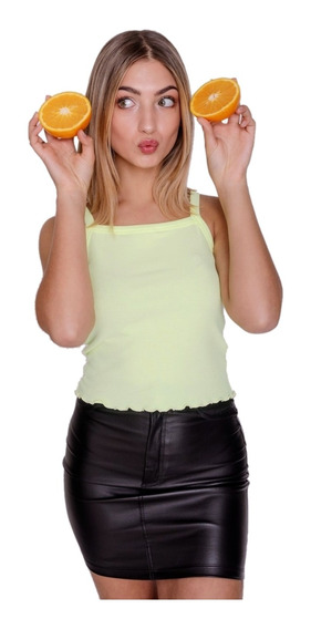 Musculosa Mujer Cuello Recto Básico Liso Morley