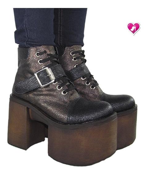Borcegos Plataforma Invierno 19 Modelo Kiev De Shoes Bayres