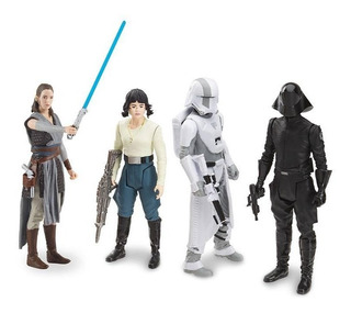 Pack 4 Figuras Battle On Crait Star Wars Last Jedi 3,75