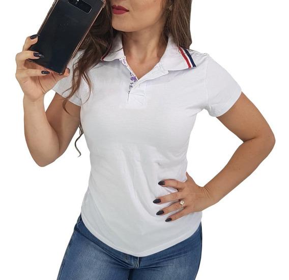 Kit 4 Blusas Brancas Uniformes Promoção Atacado P M G Barato