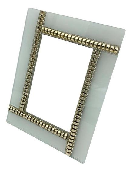 Porta Retrato De Vidro Decorado 10x15cm - Ref 486brd