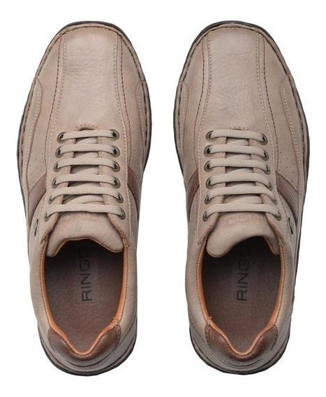 Zapato Ringo Confort De Cuero Con Burbuja - Evolution 11m