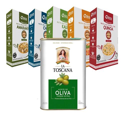Pack 5 Fusilli Wakas Sin Tacc + Aceite De Oliva La Toscana