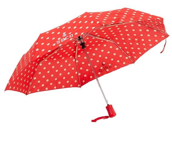 Paraguas London Lunares Rojo