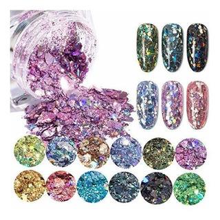 Asfairy-beauty Hexagonal Flash Nail Powder,