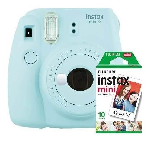 Câmera Instantânea Instax Fujifilm Mini 9 Azul + Filme 10