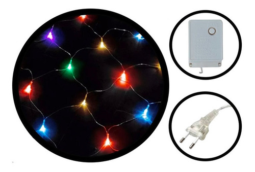 Pisca Pisca Rede De Led 120 Led 8 Funções Luz Colorida