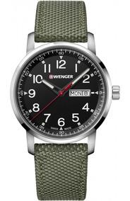 Relógio Masculino Suíço Wenger Linha Atitude 42mm Verde C/nf