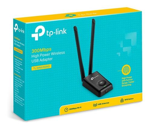 Imagen 1 de 6 de Placa De Red Usb Wi-fi Tp Link8200nd 2 Wats Largo Alcance