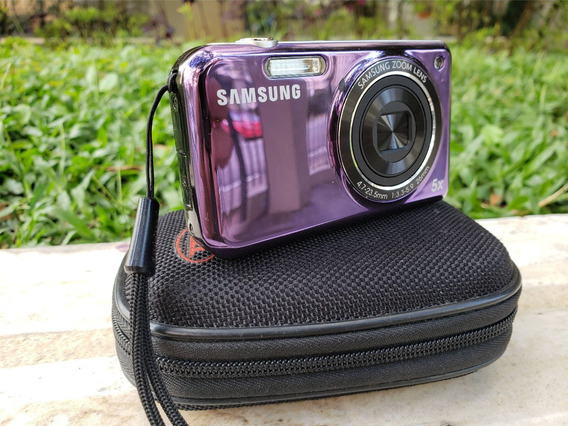 Câmera Digital Samsung Pl120 Tela Frontal + Micro 2gb + Bag