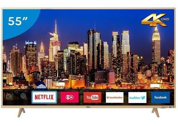 Smart Tv 4k Led 55 Philco Ptv55f61snc - Wi-fi Conversor Dig