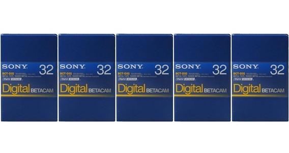 Sony Fita Video Betacam Digital Bct-d32 Nova Lacrada Kit 5