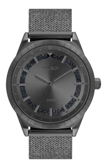 Relógio Feminino Euro Eu2036ypw/4f 40mm Aço Grafite