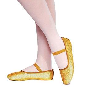 02f10a61d3 Sapatilha Meia Ponta Só Dança Com Glitter P  Balé Ad Dourado