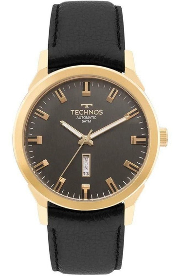 Relógio Technos Classic Automatic Couro Masculino 8205og/2p