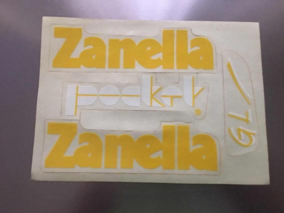 Juego De Calcomanías Zanella Pocket ( Dos Modelos)