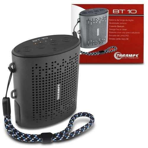 Caixa De Som Portátil Taramps Bt-10 3w Rms Bluetooth Sd