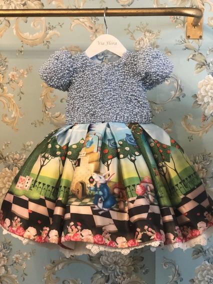 Vestido Bebê Festa Luxo De 1 Ano Idade A 1 Ano E Meio