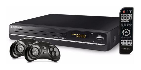 Dvd Mondial Game Star Ii D14 , Função Game 600 Jogos Com Usb