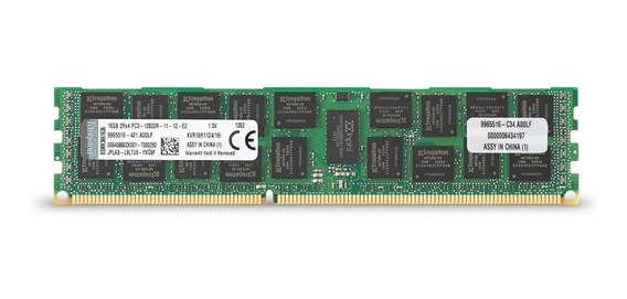 Memoria Ram 16gb Kingston Technology Valueram 1600mhz Ddr3 Pc3 12800 Ecc Reg Cl11 Dimm Dr X4 With Ts Intel Server