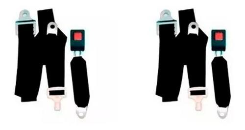 Imagen 1 de 3 de Kit 2 Cinturones Seguridad Delanteros Auto Camioneta 4x4