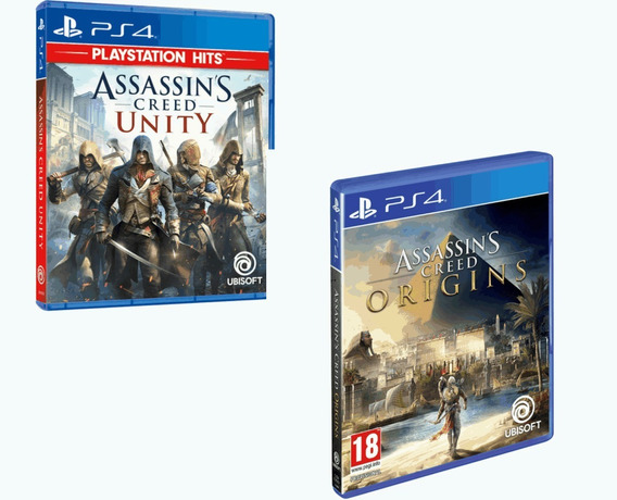 Combo Assassins Creed Ps4 Origins + Unity Português Original