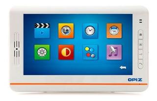 Opiz Monitor De 7 Pulgadas Color Blanco Foto Y Mensajes